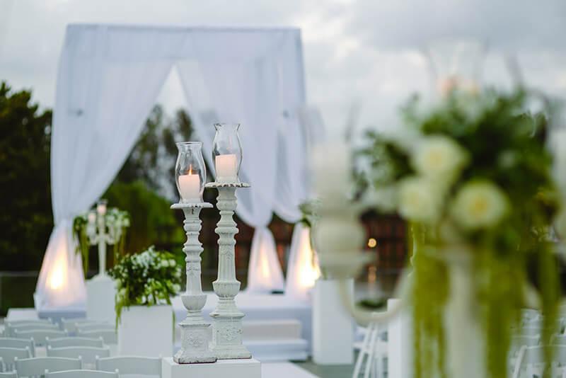 Ceremony set up jewish wedding