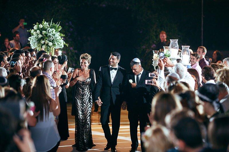 Groom entrance Jewish wedding