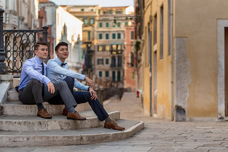 Portrait same sex couple